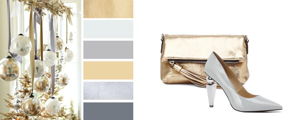 Блестящие сумки - с чем носить, фото