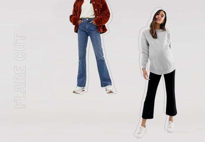 Гид по джинсам: flare, расклешенные, клеши