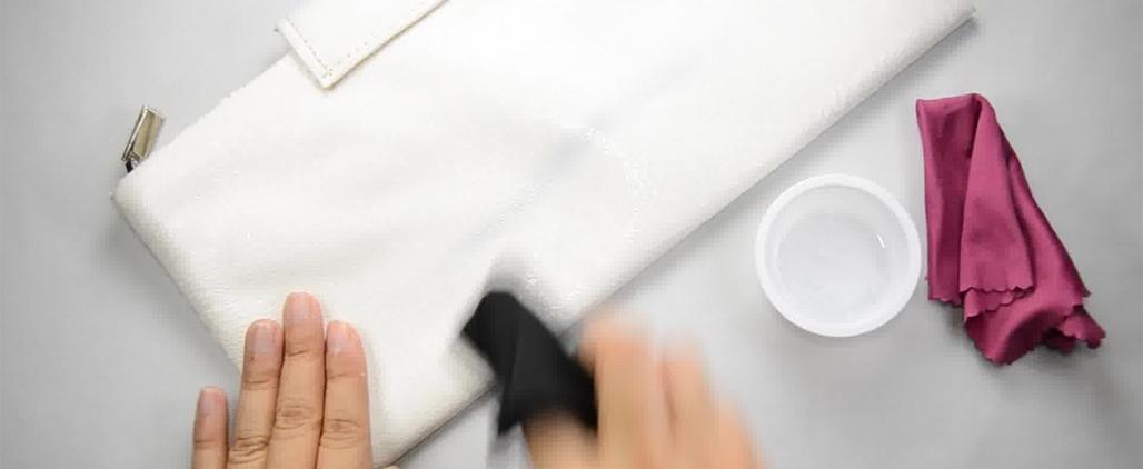 Как почистить белую сумку?
