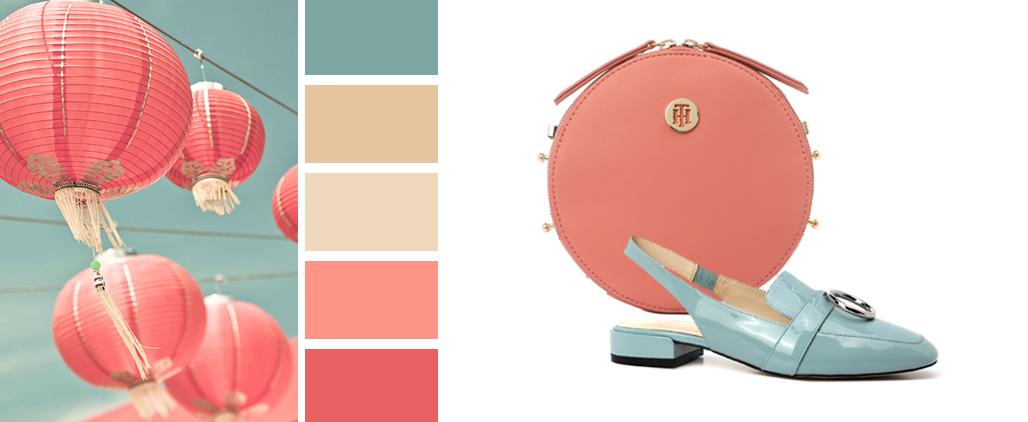 С чем носить сумку кораллового цвета