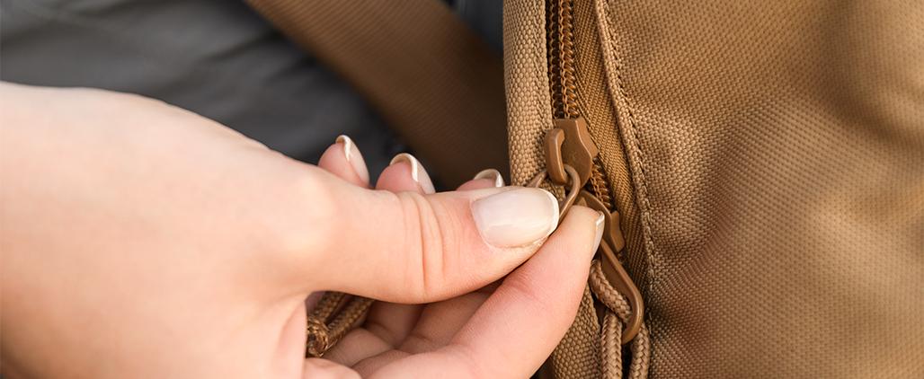 Расходится молния на сумке - как починить молнию?