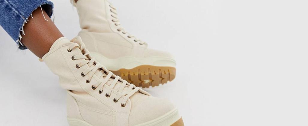 c чем носить женские ботинки на шнуровке