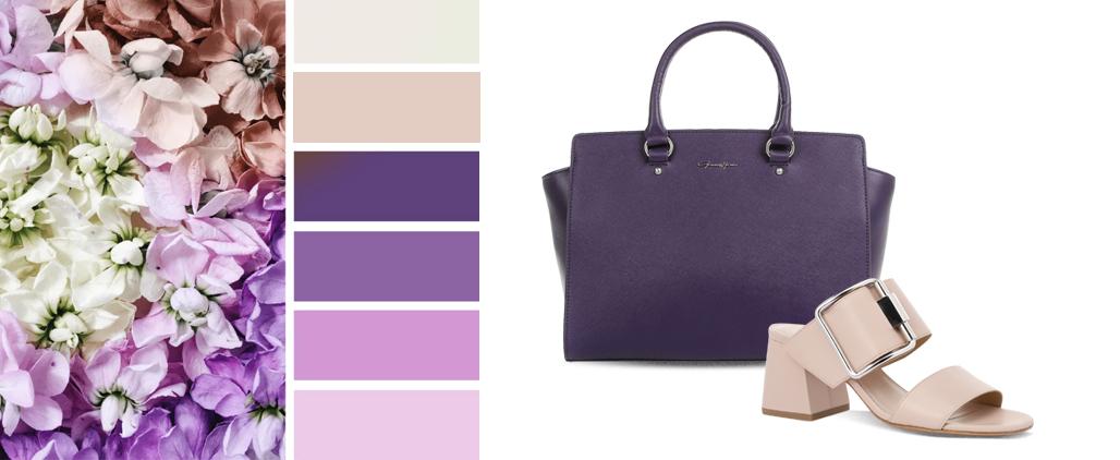 С чем носить фиолетовую и сиреневую сумку?