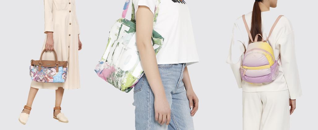 С чем носить разноцветную сумку, фото