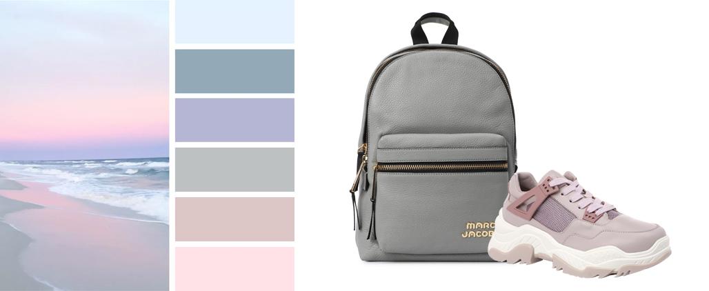 Серая сумка - с чем носить, фото