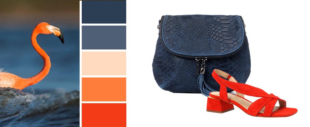 Синяя сумка - с чем носить, фото