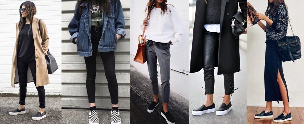 С чем носить женские слипоны?