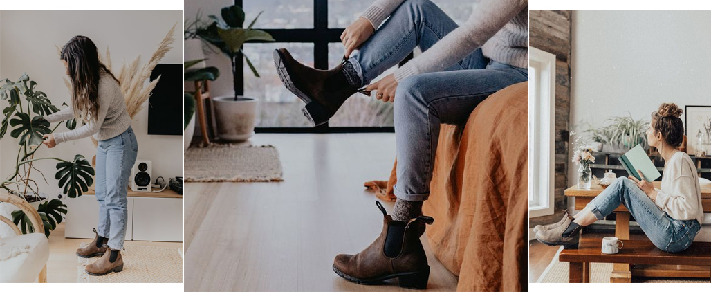 С чем носить женские ботинки челси, фото