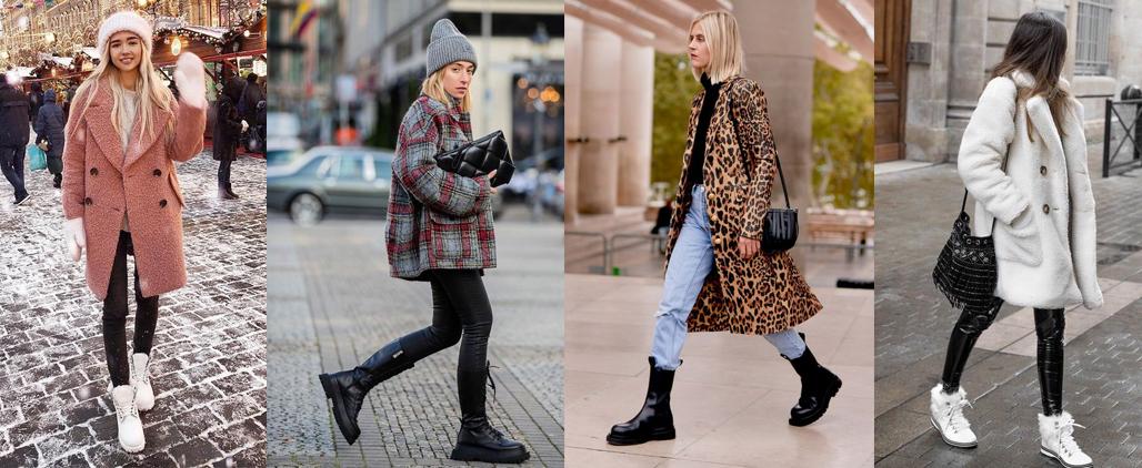Зимние ботинки женские с чем носить?