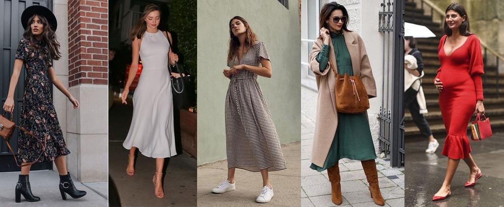 С какой обувью носить платье?